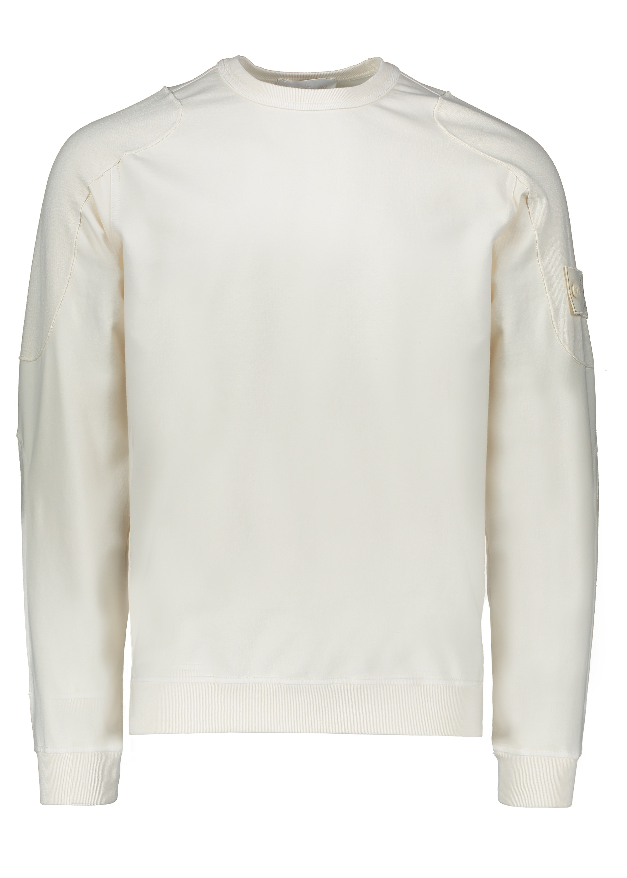 Stone Island Ghost Patch Crew Natural Sweatshirts From Triads Uk