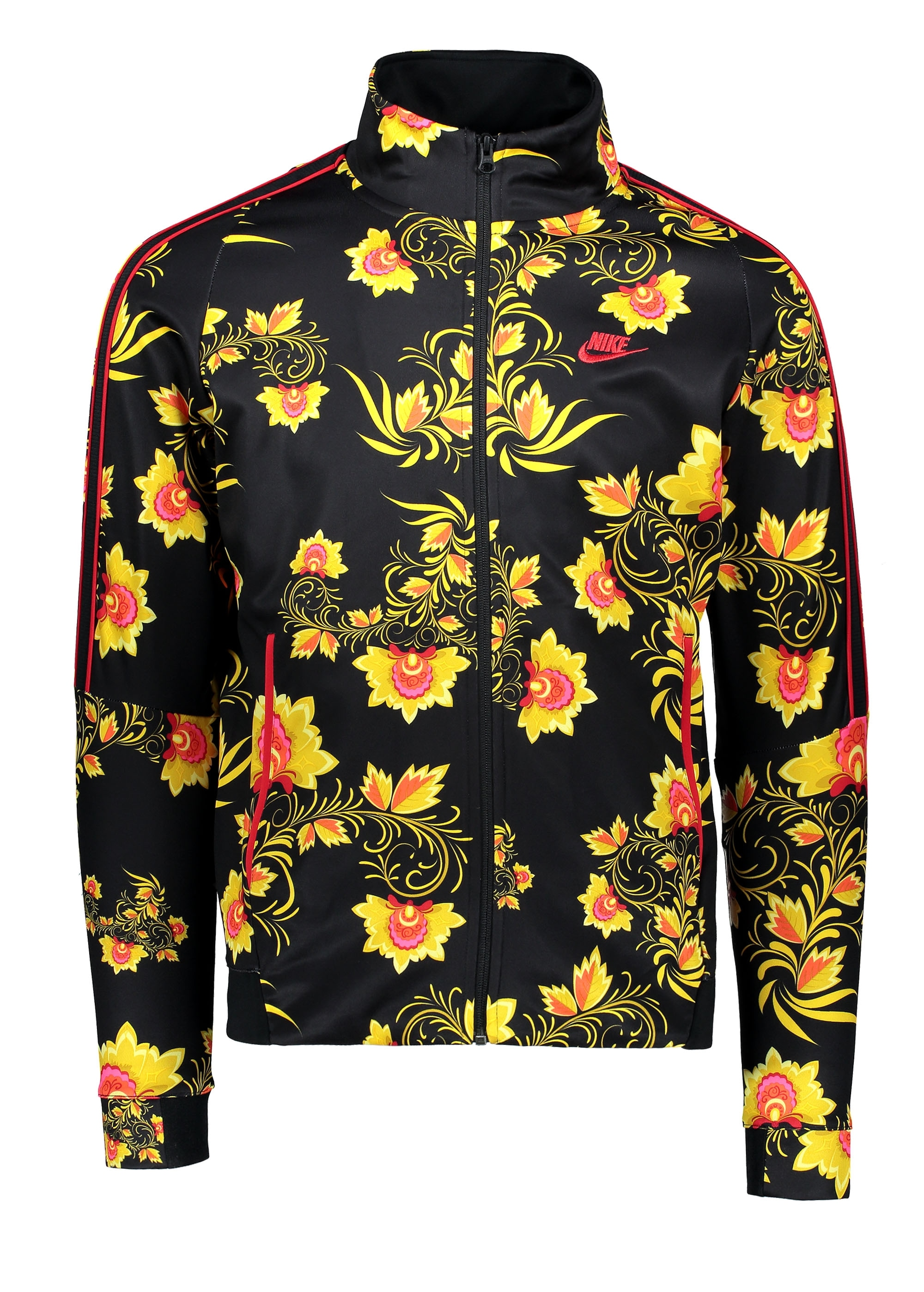 461a2468 Nike Apparel N98 Jacket - Black / Yellow - Track Tops from Triads UK