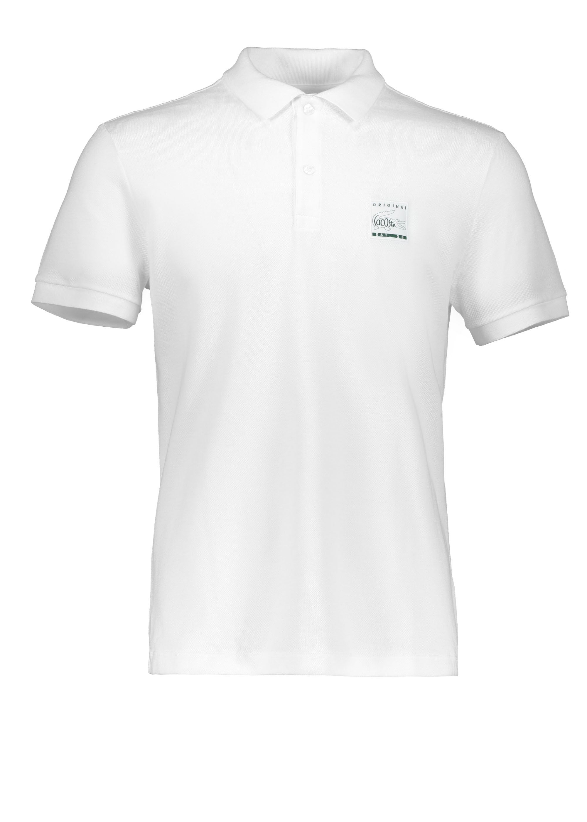 1eb1698eac Lacoste Patch Logo Polo - White - Polo Shirts from Triads UK