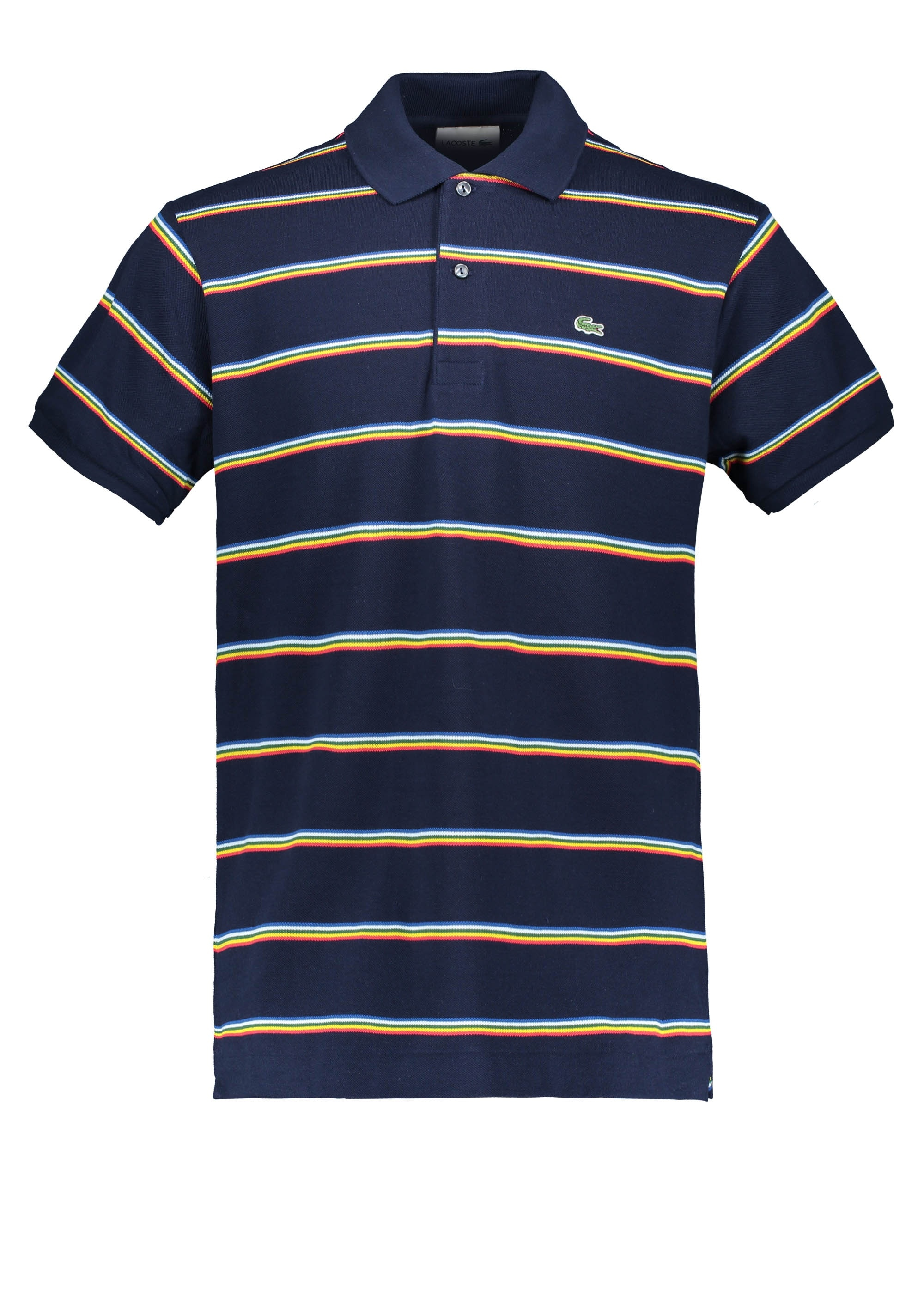 bc4ae1de9 Lacoste Stripe Polo - Navy Blue - Polo Shirts from Triads UK