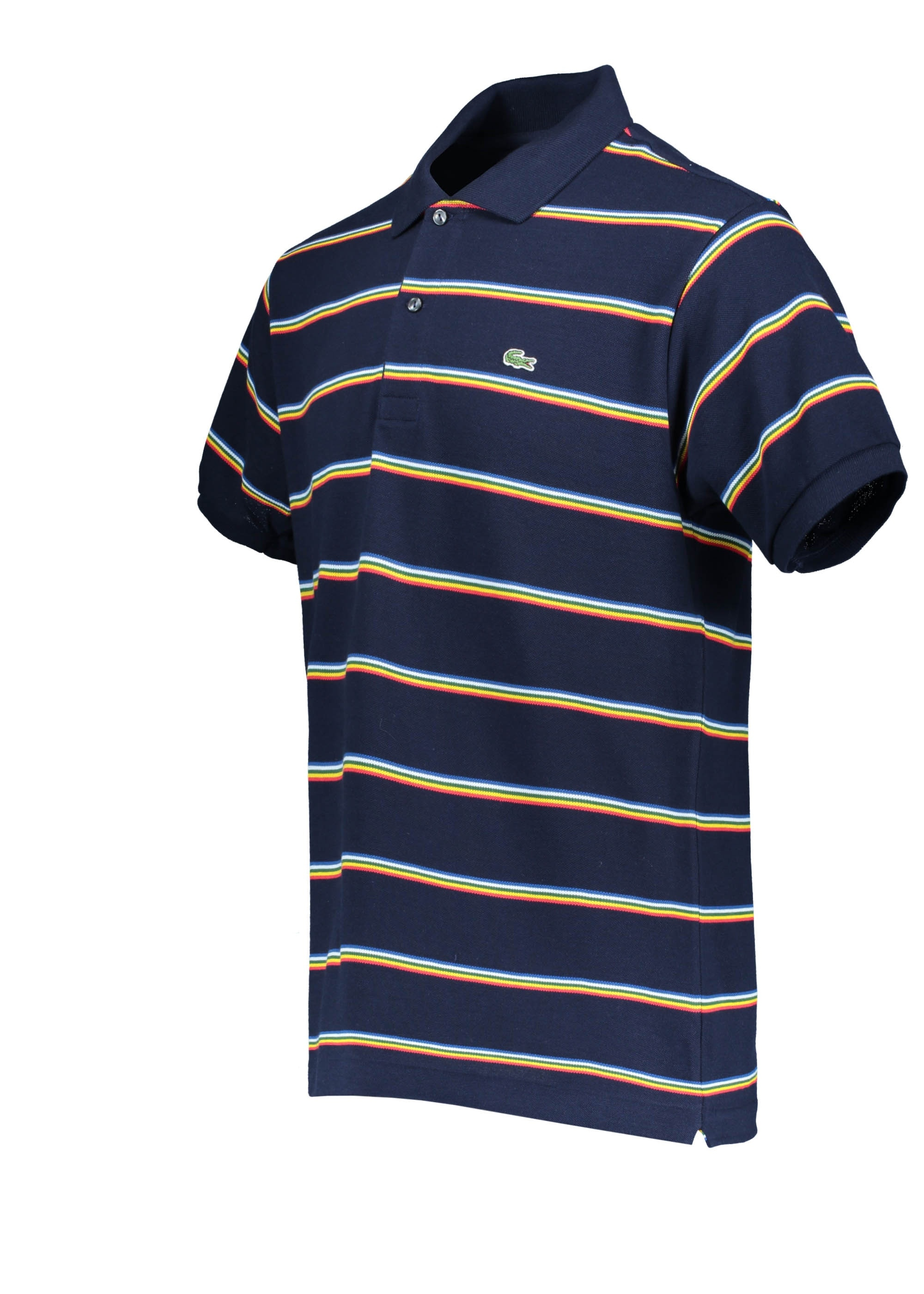 bdc179914 Lacoste Stripe Polo - Navy Blue - Polo Shirts from Triads UK