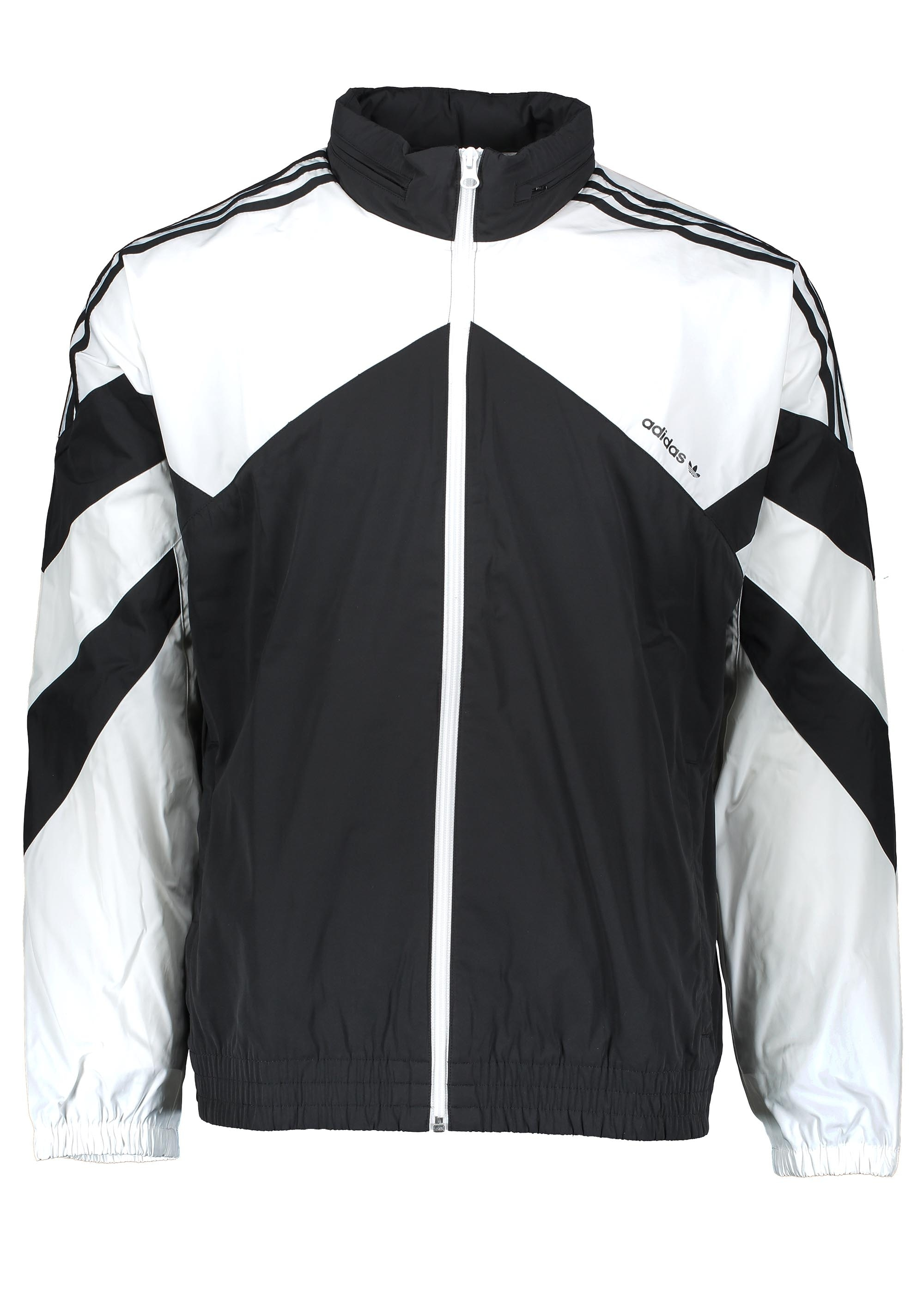 adidas Originals Apparel Palmeston Windbreaker - Black   White ... 458ad16bd