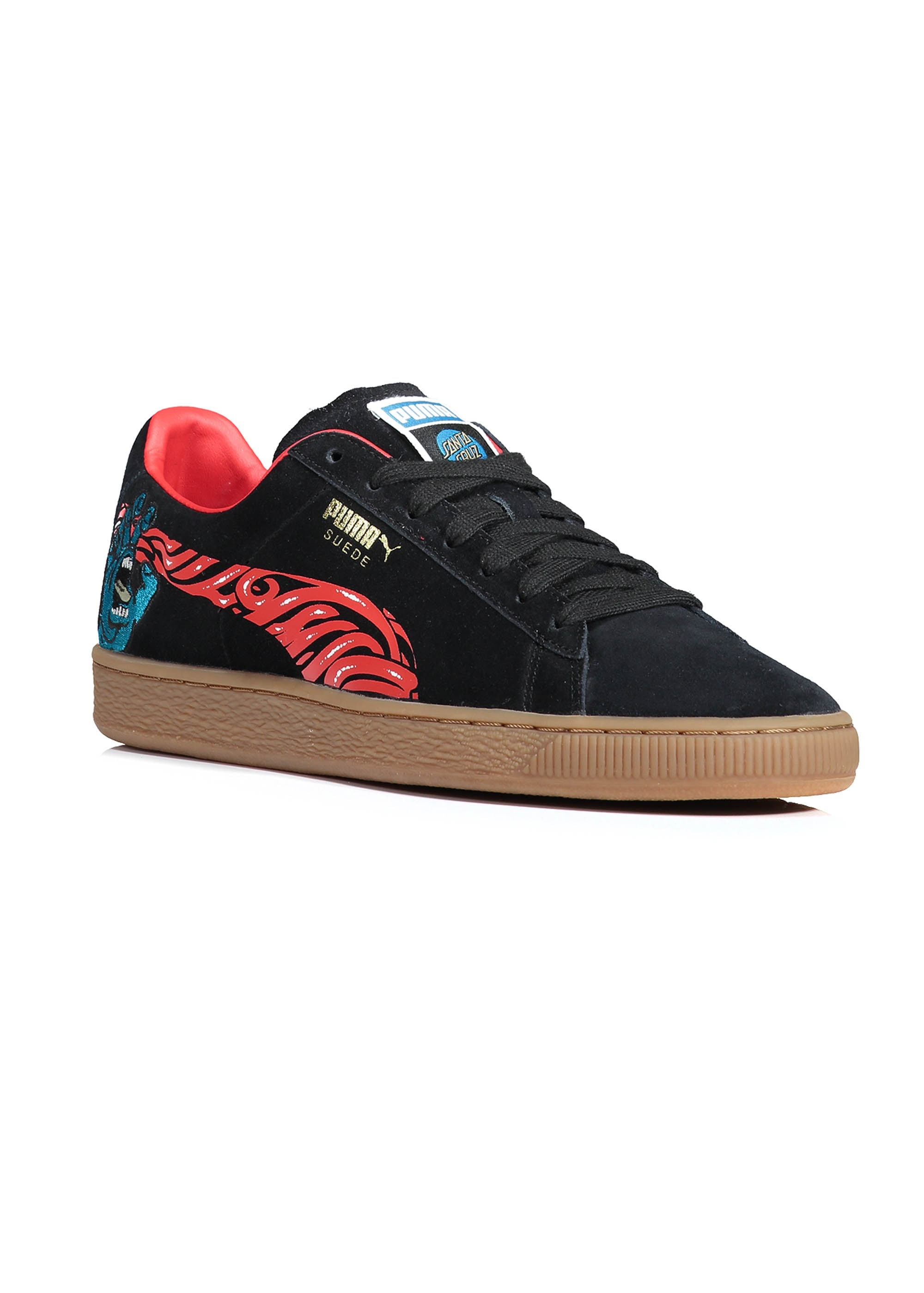 Puma x Santa Cruz Suede Classic - Black   Red - Triads Mens from ... c1bd1bcc7