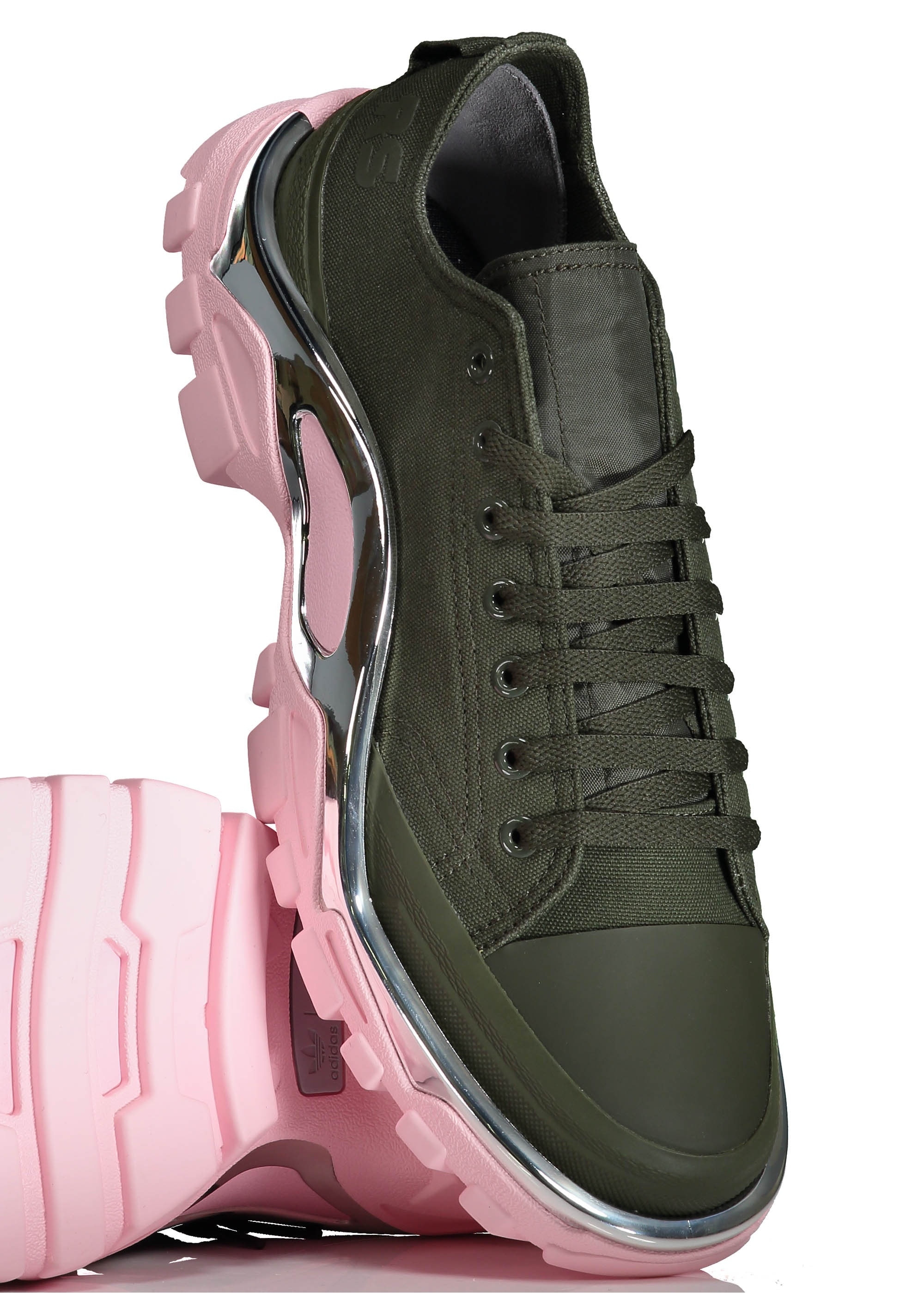 adidas by Raf Simons RS Detroit Runner - Green   Pink - Trainers ... 311d5f2ff