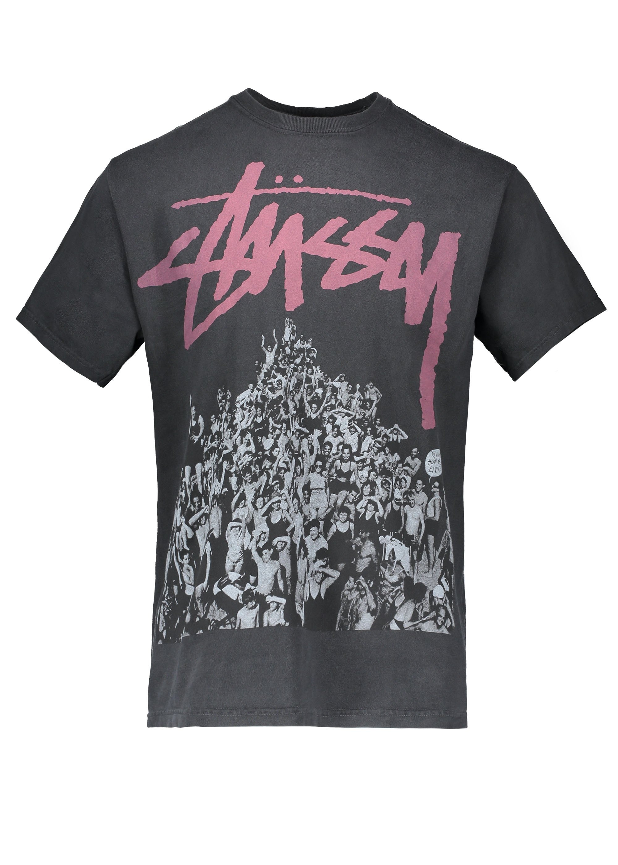 Stussy Beach Mob Pigment Dyed Tee - Black - Triads Mens from Triads UK a97f388fb