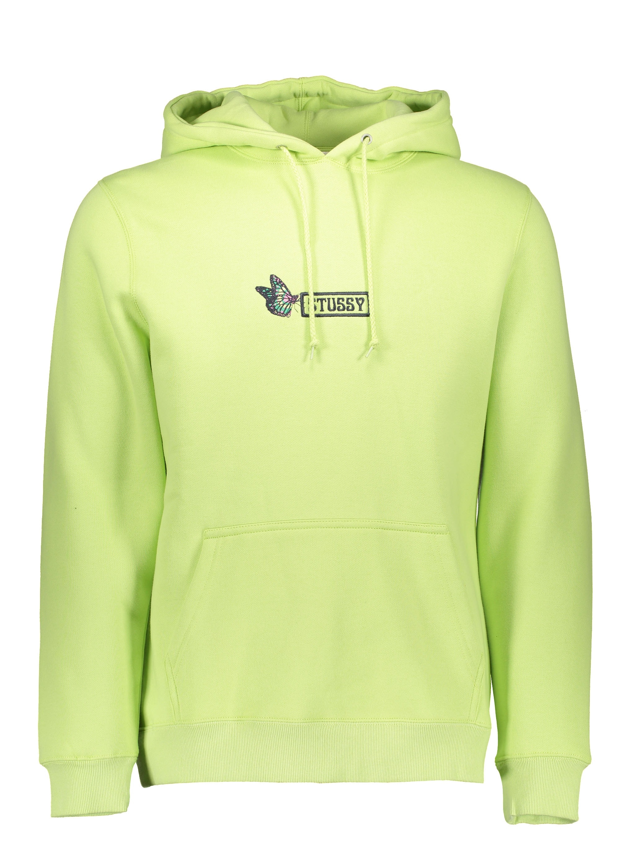9266424929 Stussy Butterfly Applique Hoodie - Pale Green