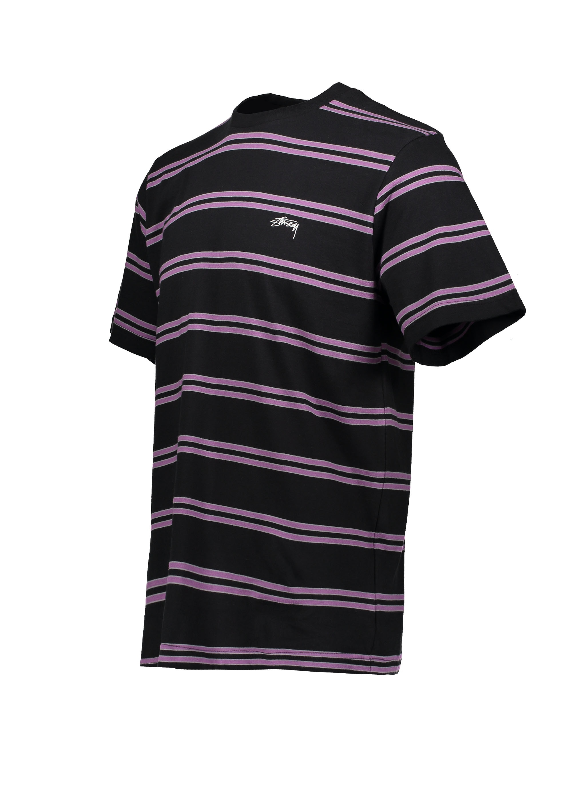 9deb236397b Stussy Double Stripe Crew - Black - T-shirts from Triads UK
