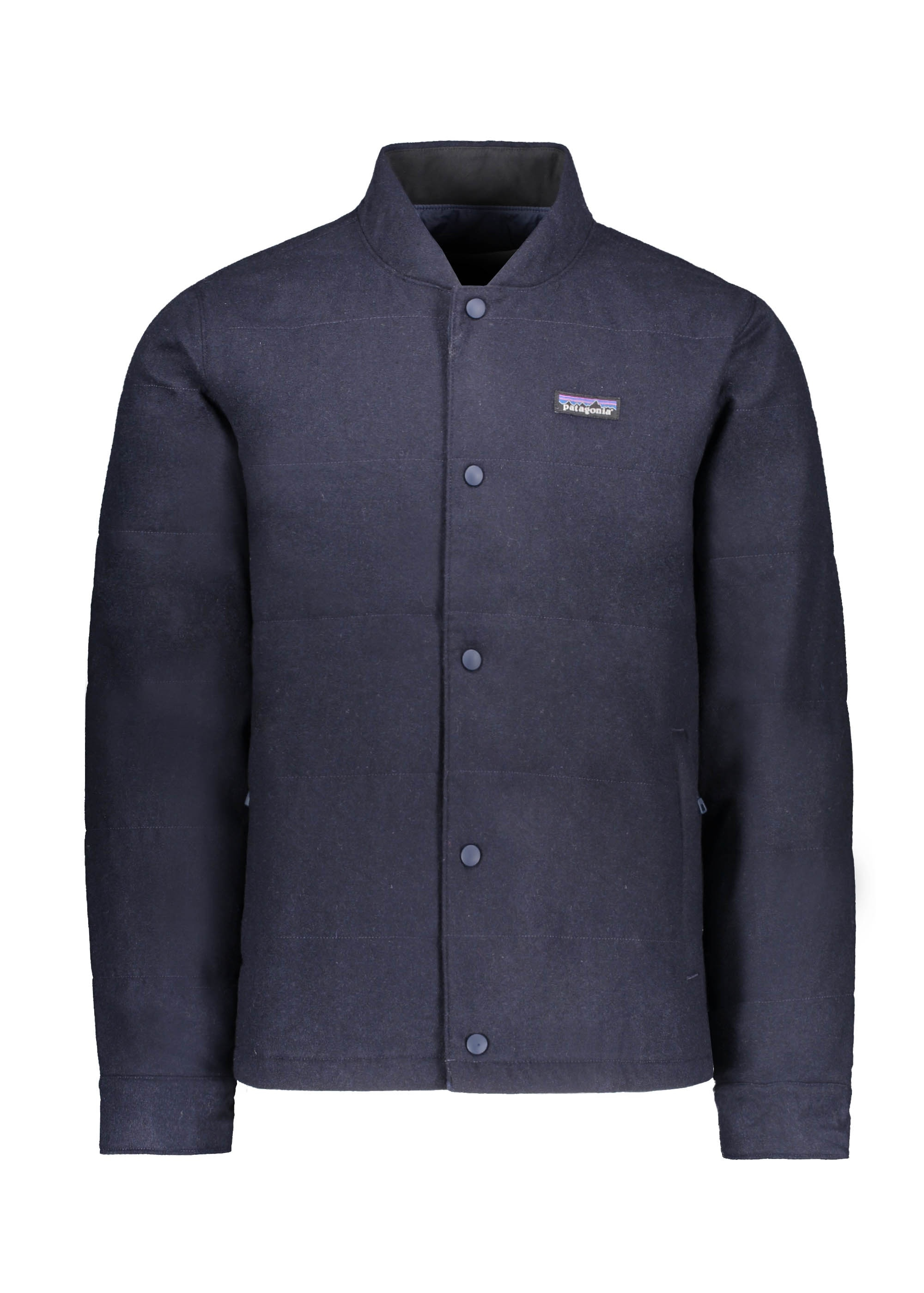 52a04343f Patagonia Recycled Wool Bomber - Classic Navy