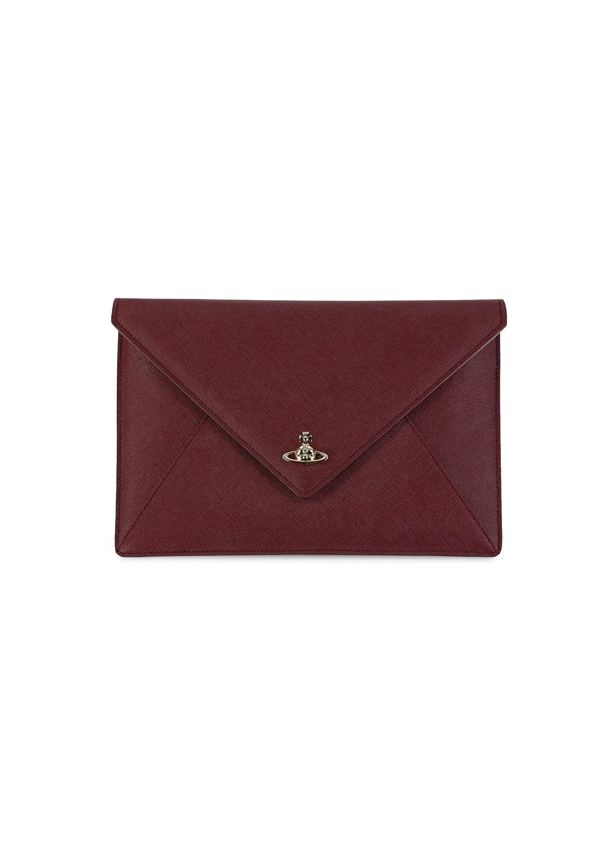 special for shoe sneakers classic style Vivienne Westwood Accessories Victoria Envelope Clutch - Burgundy