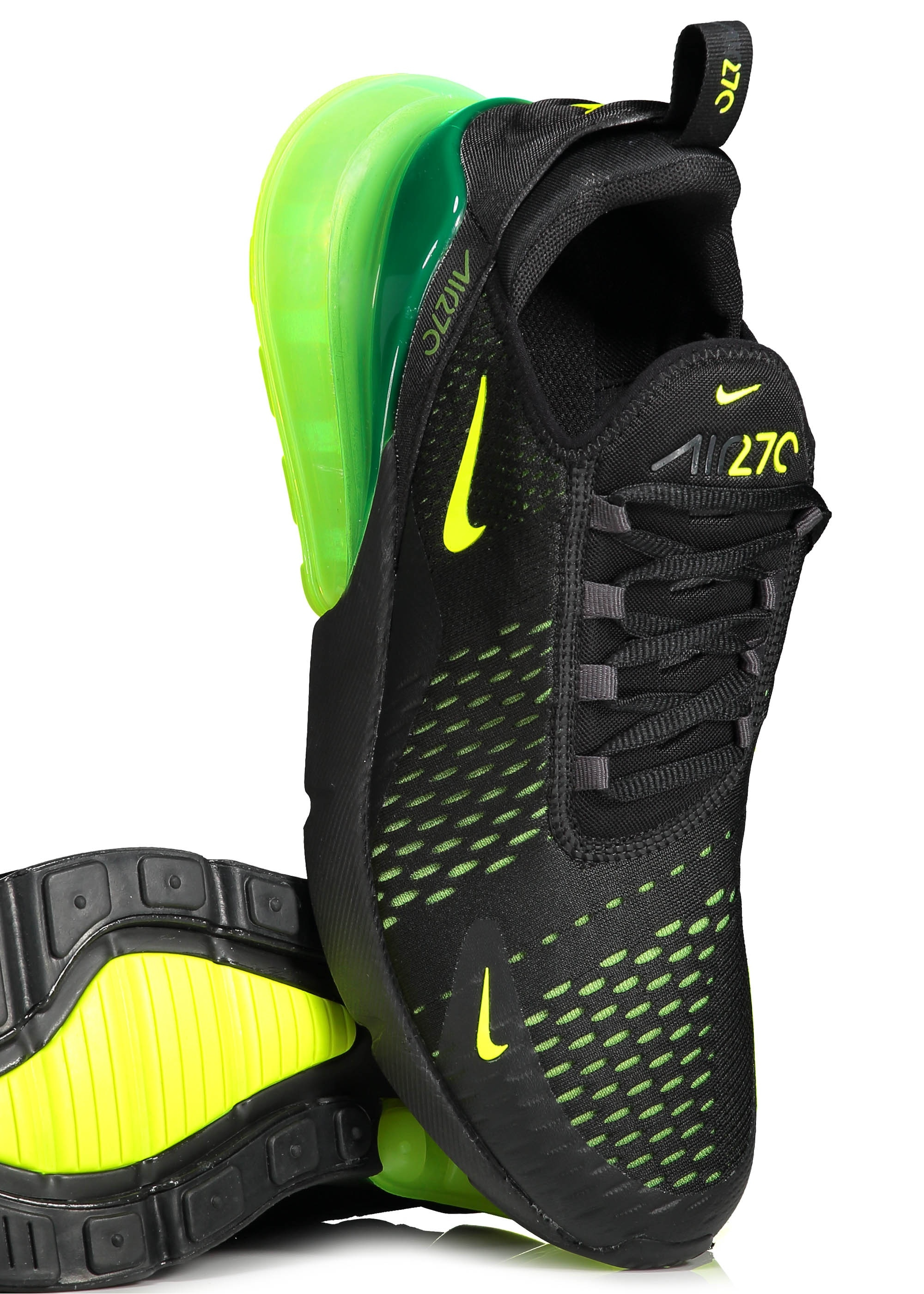 679197d803 Nike Footwear Air Max 270 - Black / Volt - Trainers from Triads UK