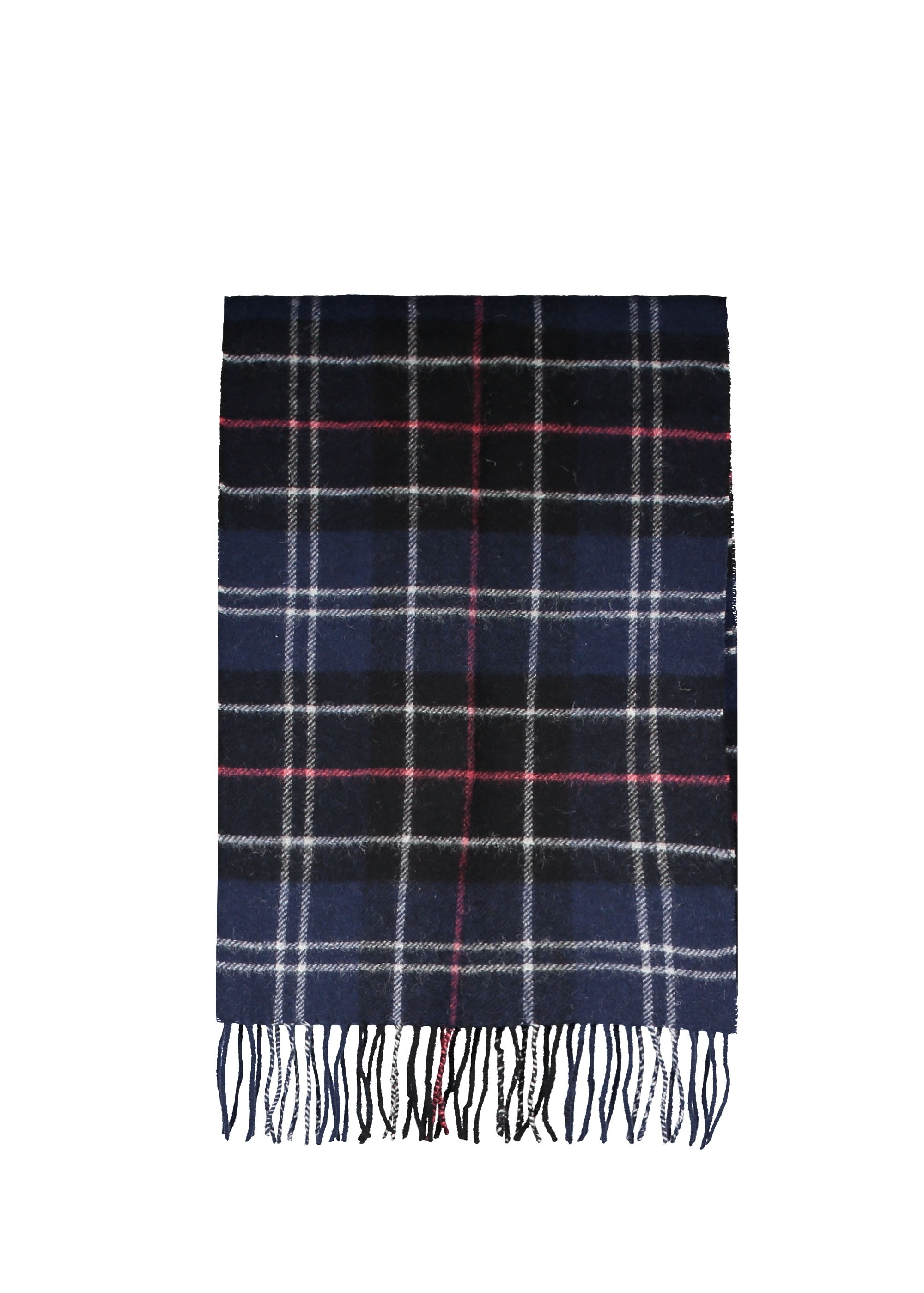 ad6185a48 Barbour Tartan Lambswool Scarf - Navy / Red - Scarves from Triads UK