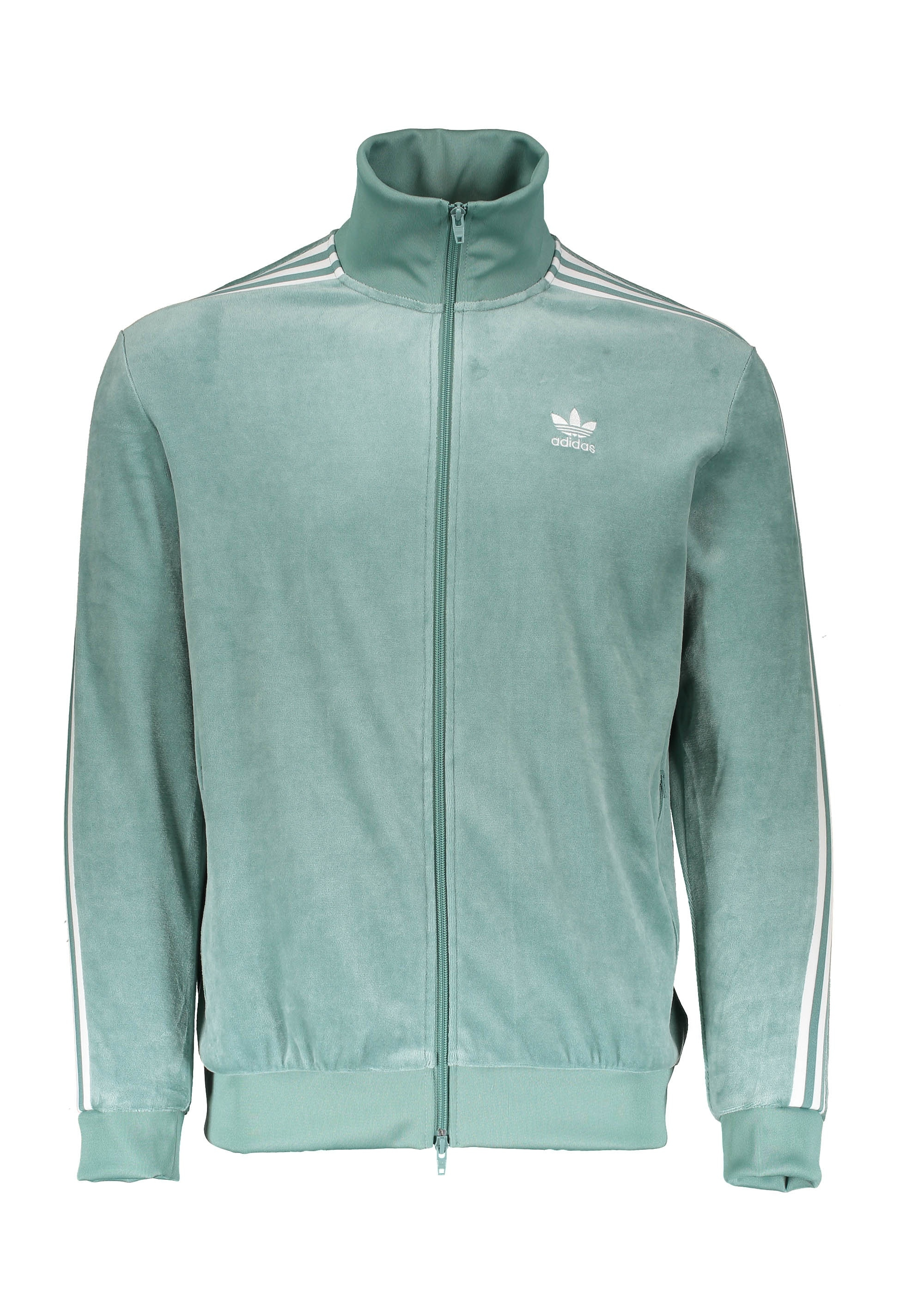 adidas Originals Apparel Cozy Track Top Green White
