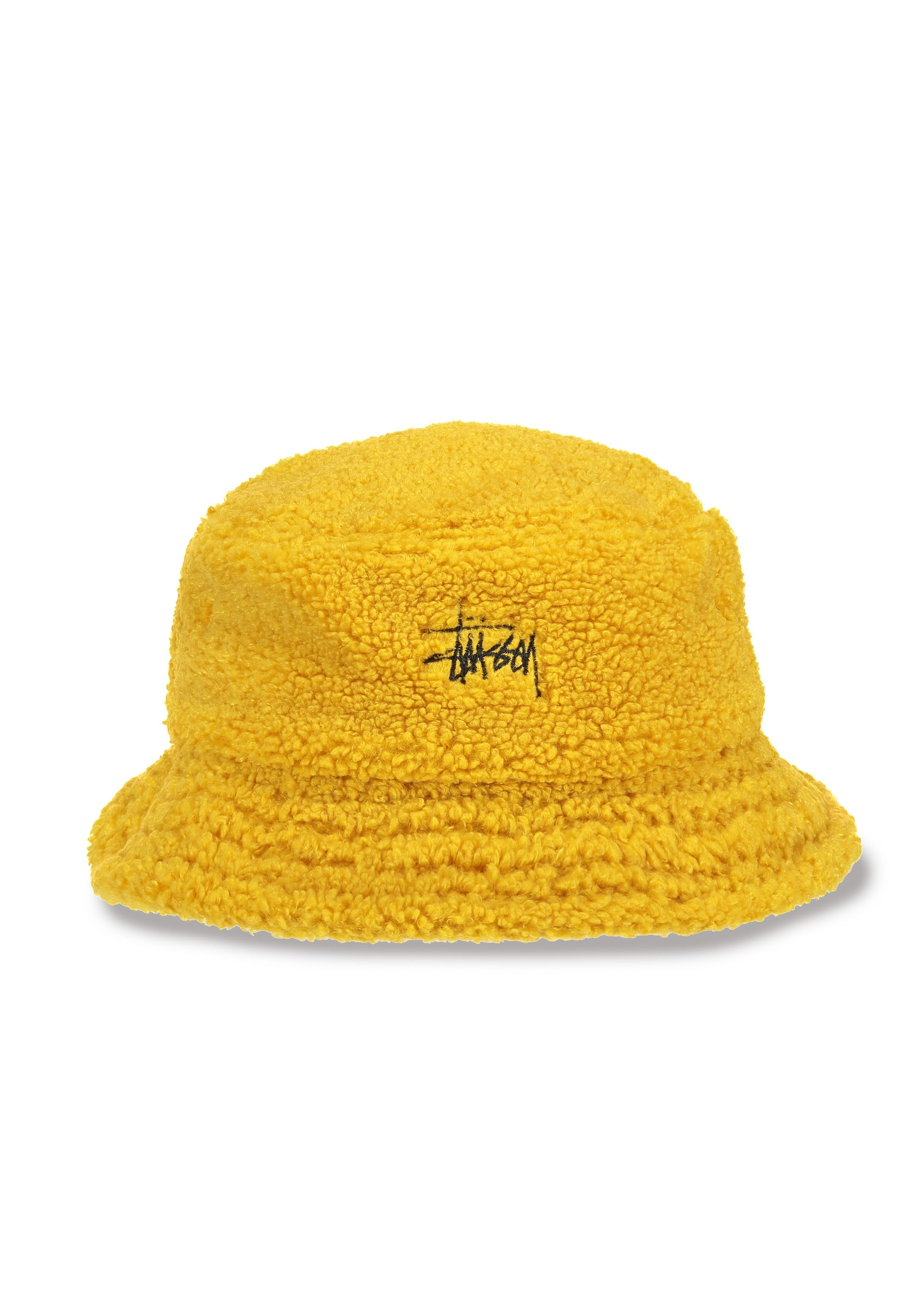 Stussy Sherpa Fleece Bucket Hat - Yellow - Headwear from Triads UK 13ef07372ab