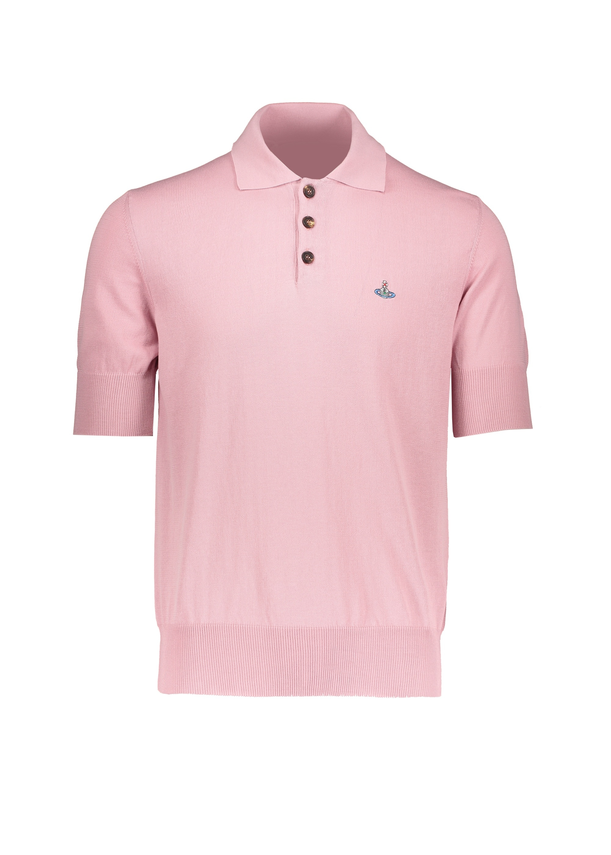 73f324b64 Vivienne Westwood Mens Knit Polo - Pink - Jumpers from Triads UK
