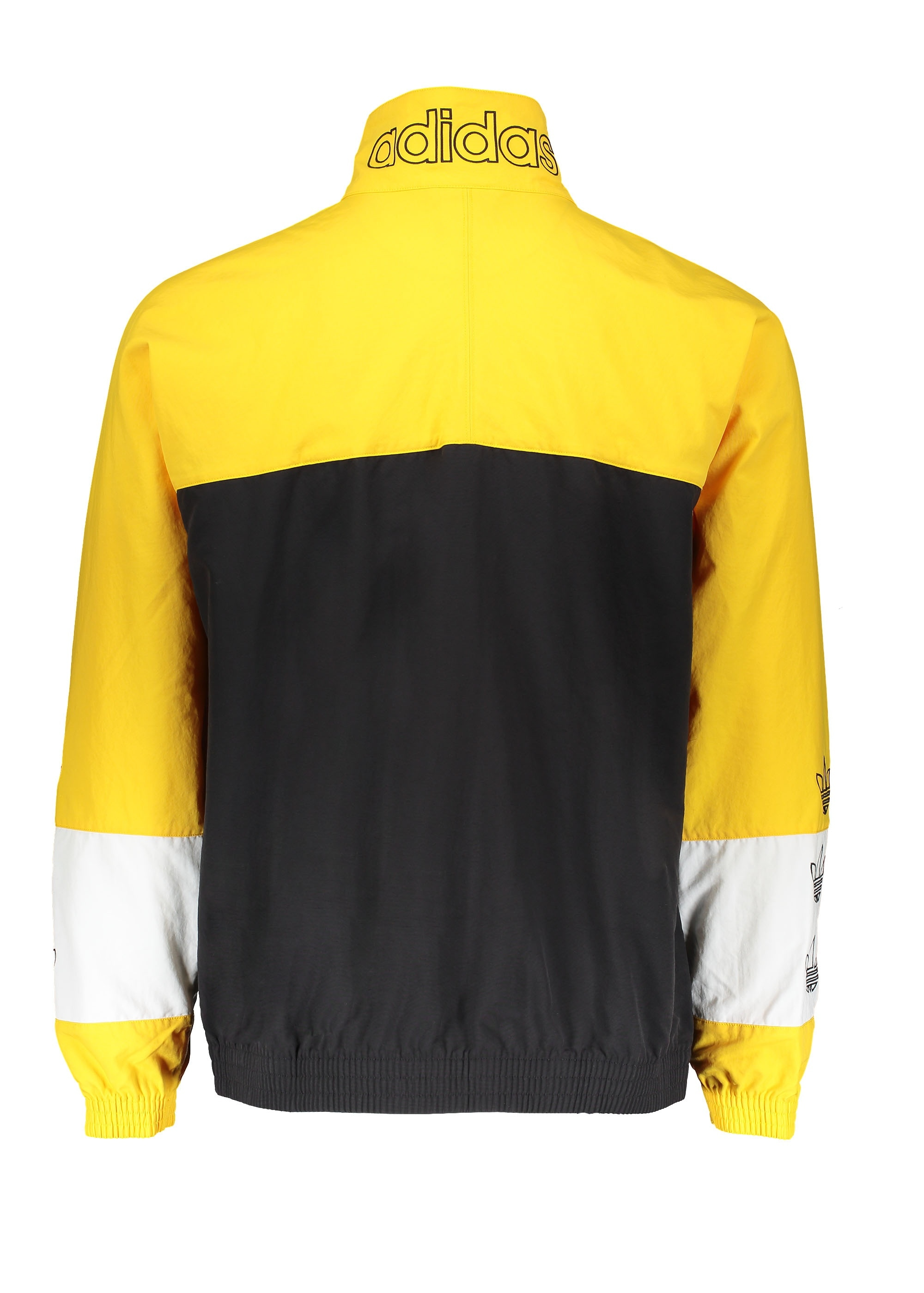 adidas Originals Apparel Tourney Warm Up Jacket Black Yellow