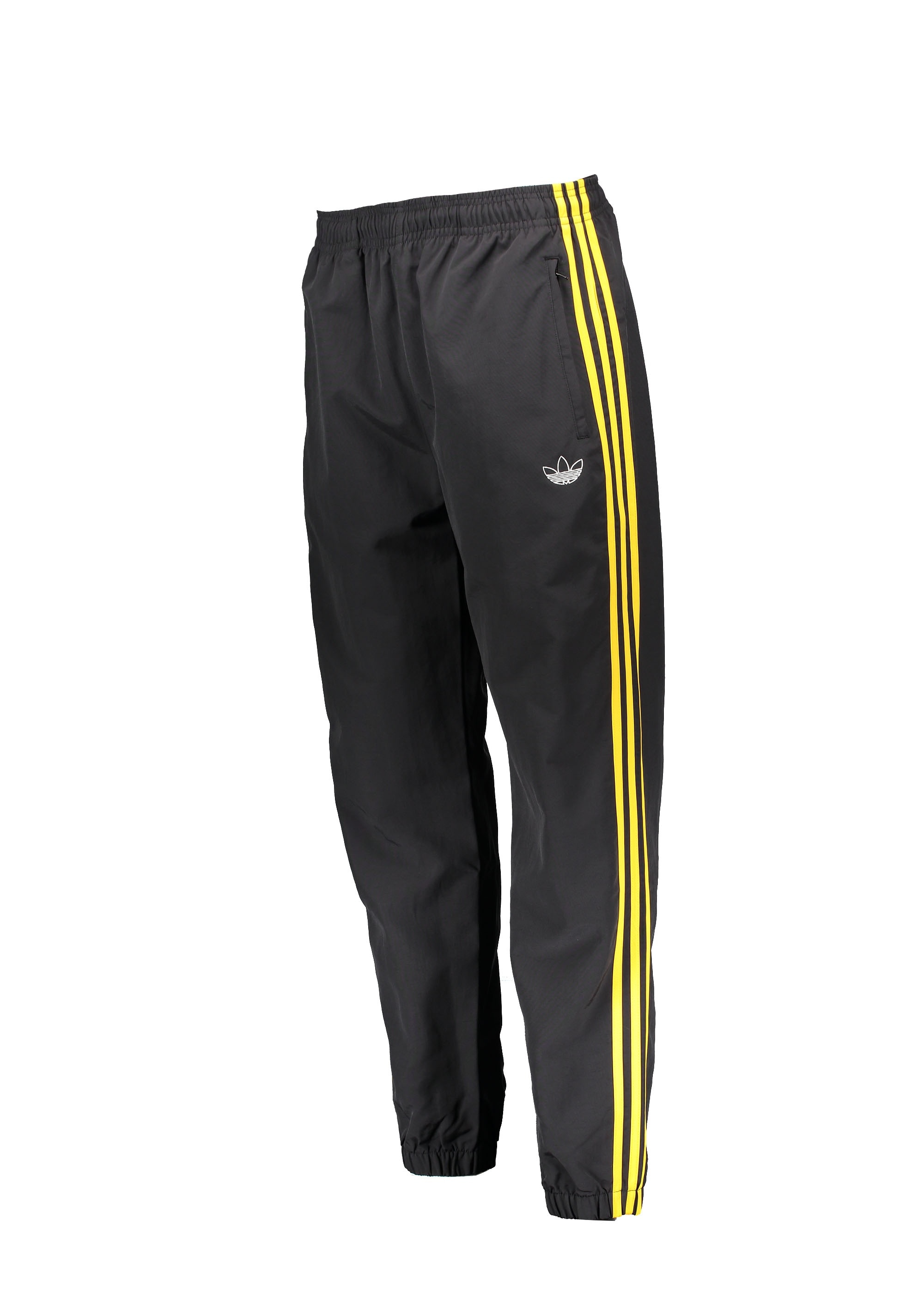 adidas Originals Apparel Tourney Warm Up Pants Black Yellow