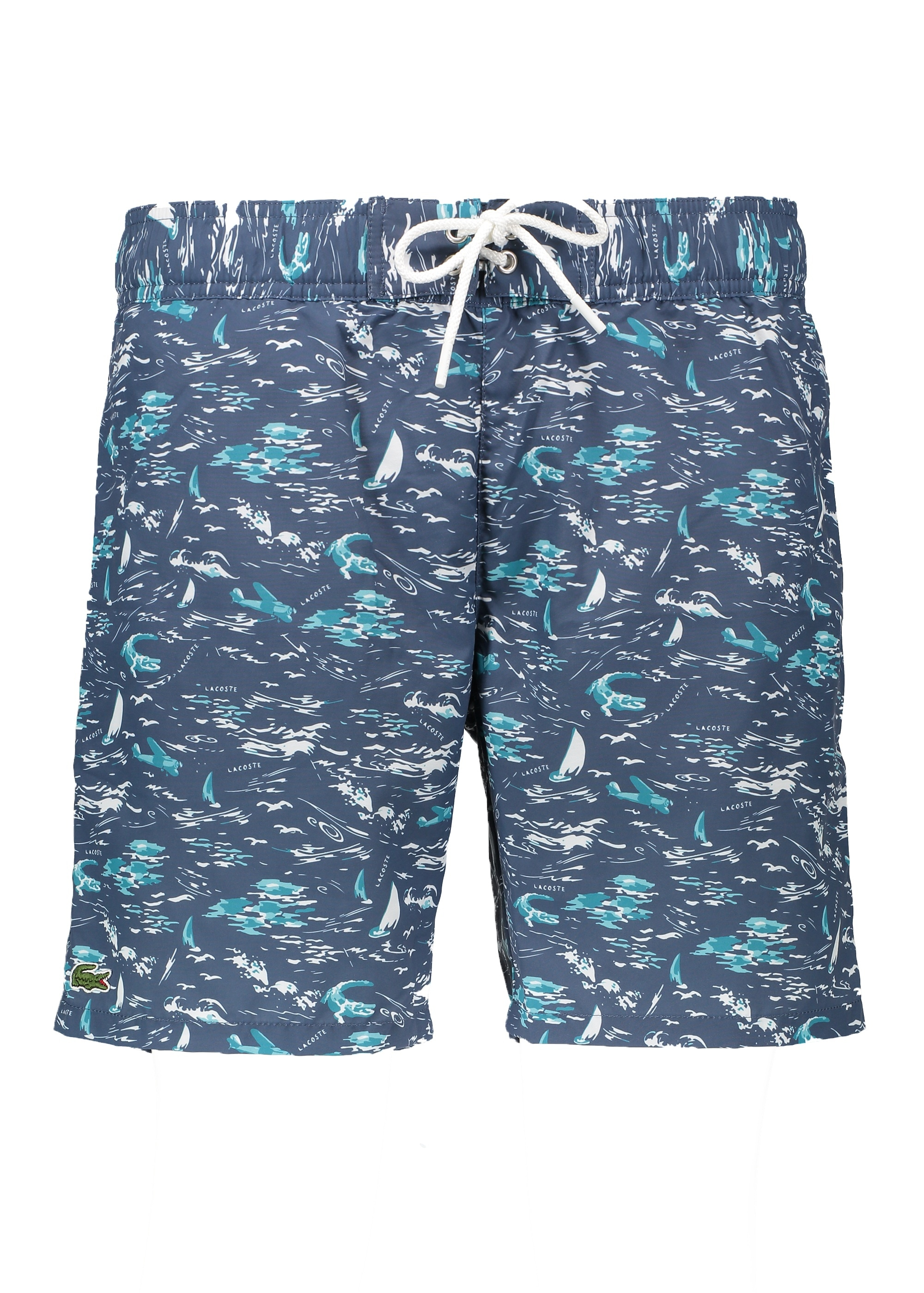 05f2a416 Lacoste Print Shorts - Navy Blue - Triads Mens from Triads UK